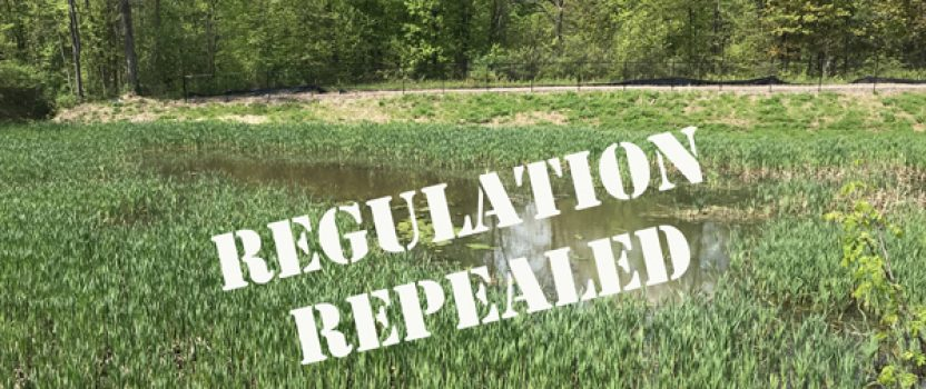 The 2015 Clean Water Rule was Repealed – what does this mean?