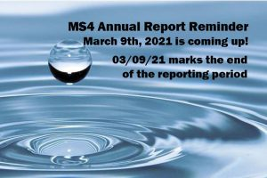 MS4 Annual Report Reminder
