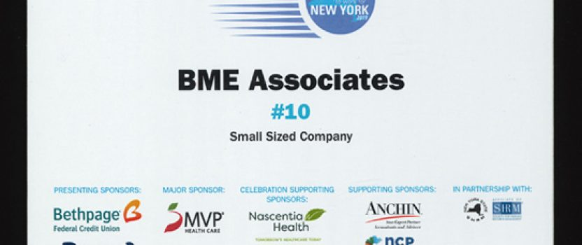 BME Associates Named Among Top Companies to Work for in New York